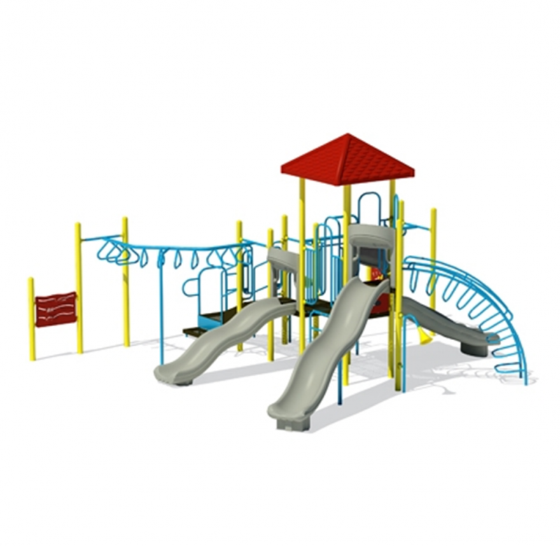 Grey Playground Slides