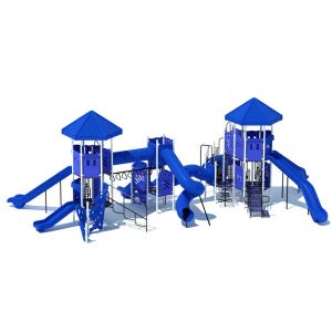 Blue Playground Slides