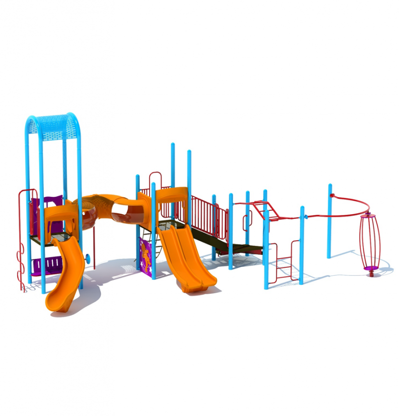Orange Playground Slides