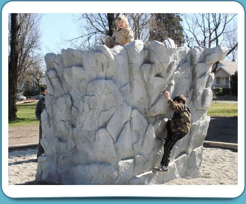 Rock Wall Structure Playground Set Idea