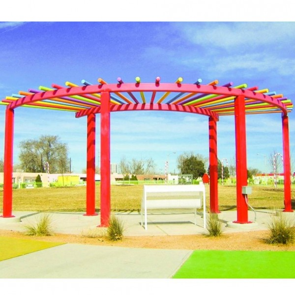 Red Colorful Pergola