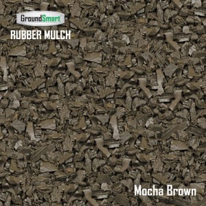 Dark Brown Rubber Mulch