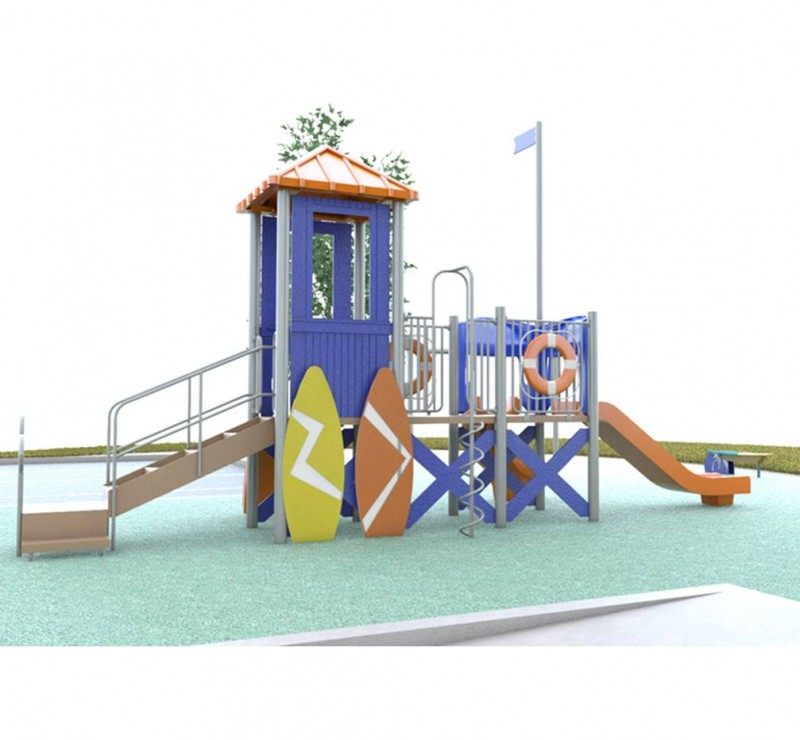 Orange Lifeguard Station Playground