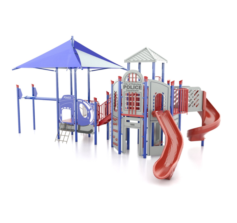 Blue Police Station Playground Set Idea