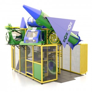 Indoor Green Rocket Ship Playground
