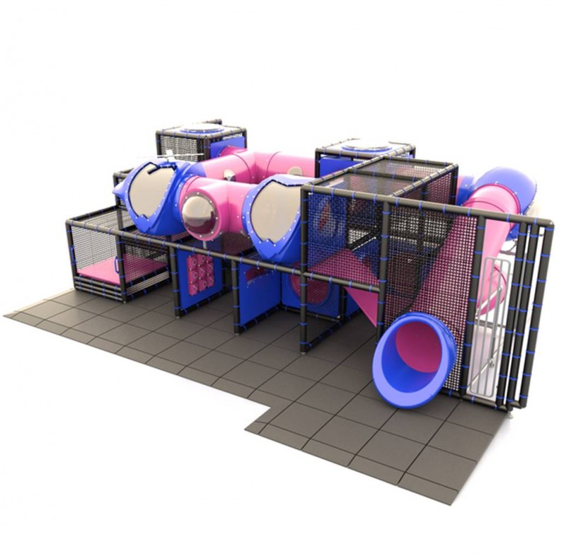 Indoor Pink Tube Slide