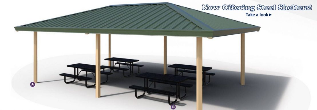 Green Steel Shelter Slider