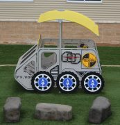 Yellow Lunar Rover