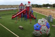 Red Outdoor Playground Set