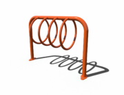 Orange Circular Hoop Bike Rack