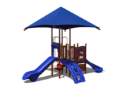 Blue Play Unit Playground Slide