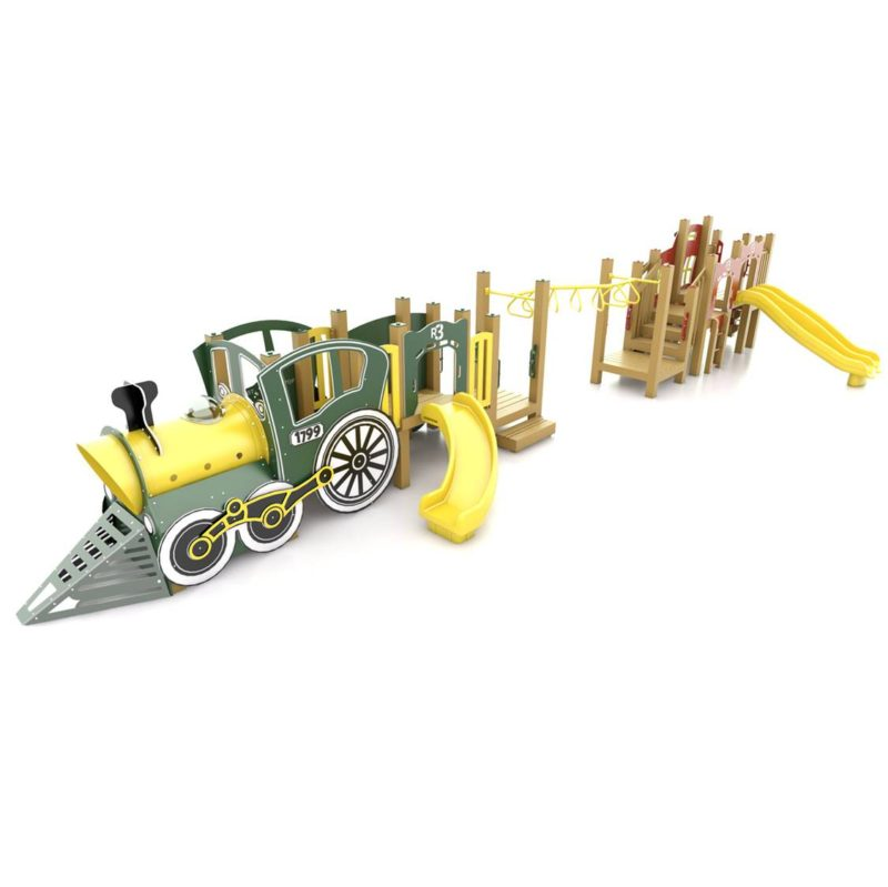 Steam Train Playground Structure