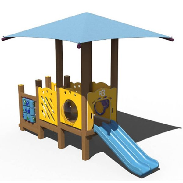 Recycled Playground with Shade