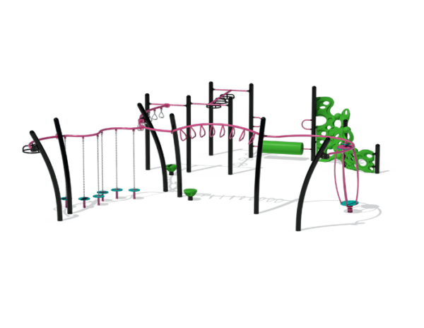 Pink and Green Active Playground Set