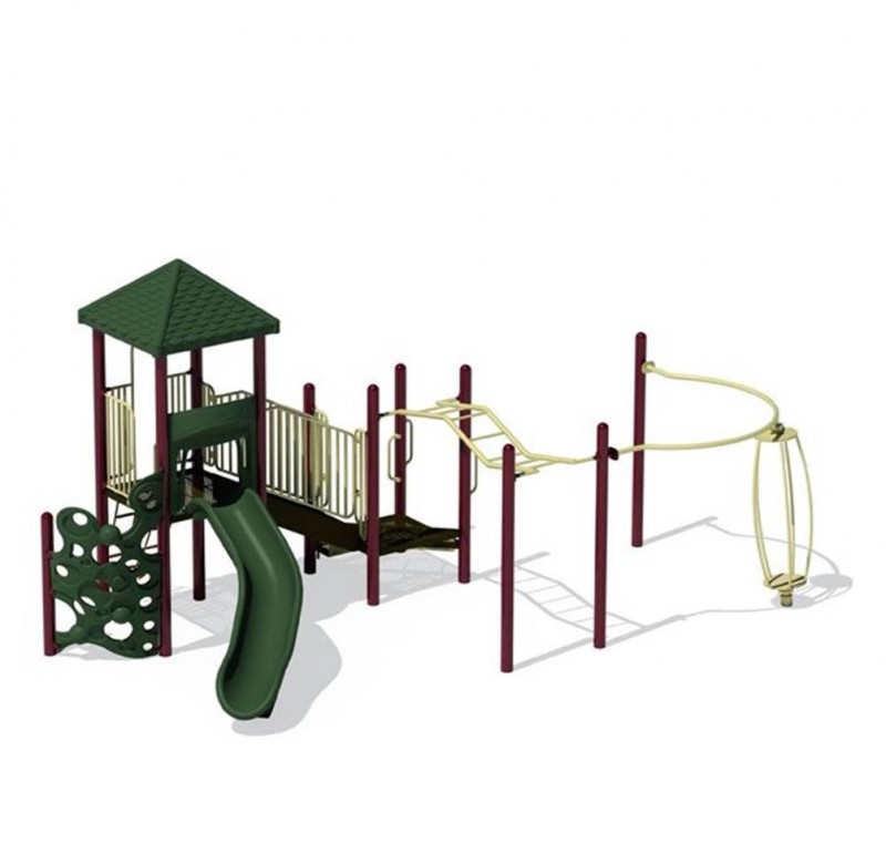 Green Playground Slide