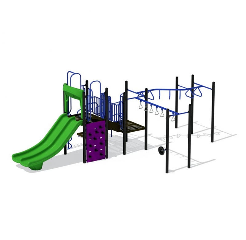 Green Playground Slides