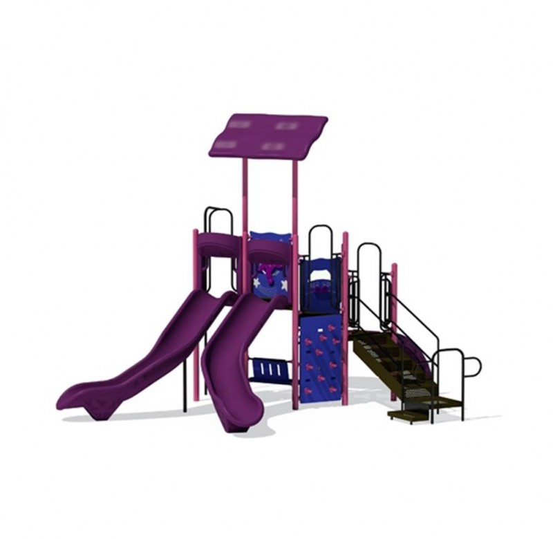 Purple Playground Slides