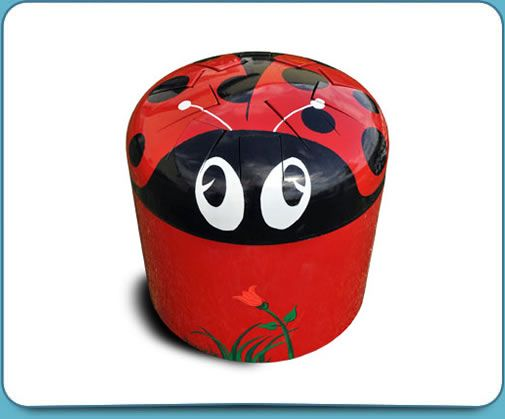 Lady Bug Drum Outdoor Musical Playground Equipment