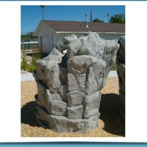 Rock Play Playground Structure Idea