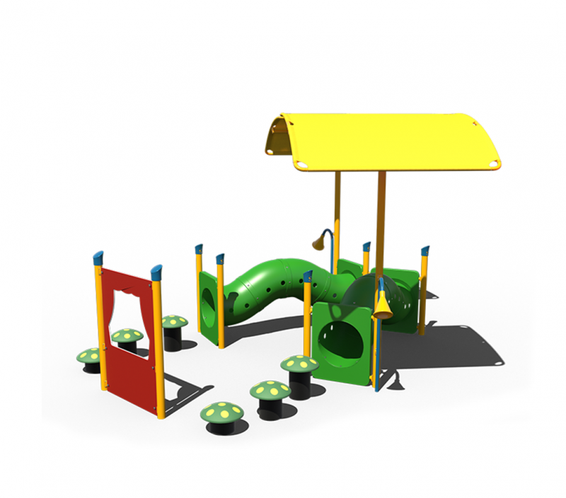 Dual Tunnel Toddler Playground