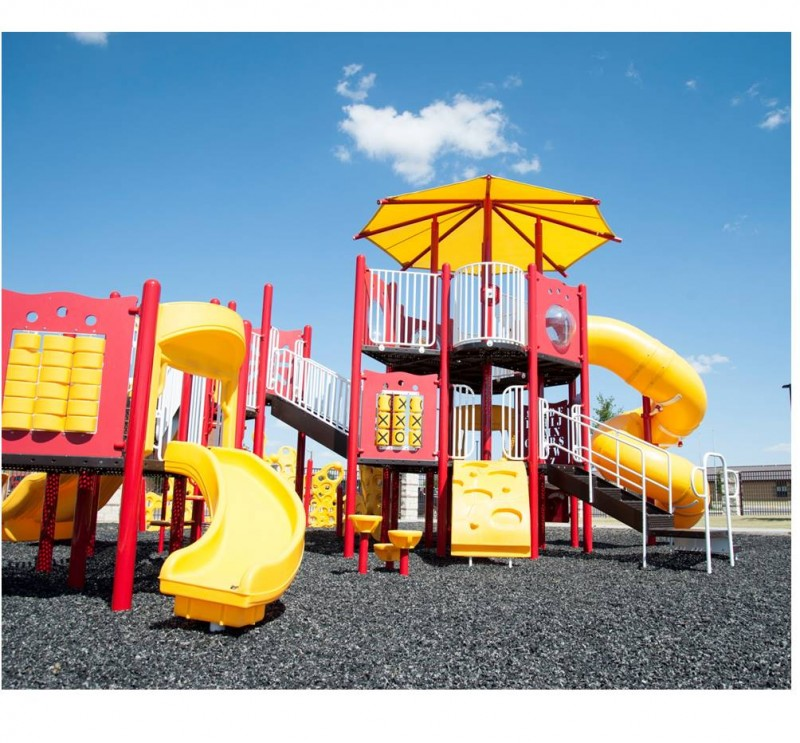 Playground on Black Rubber Mulch
