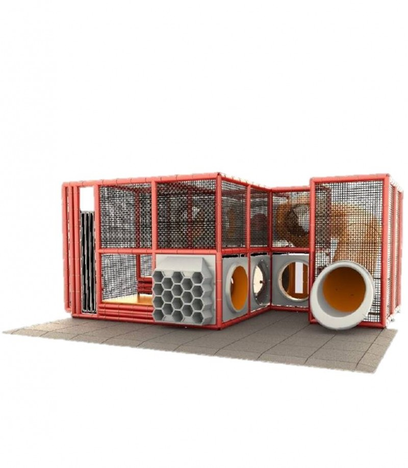 Indoor Red Playground