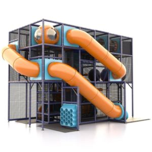 Indoor Orange Tube Slide