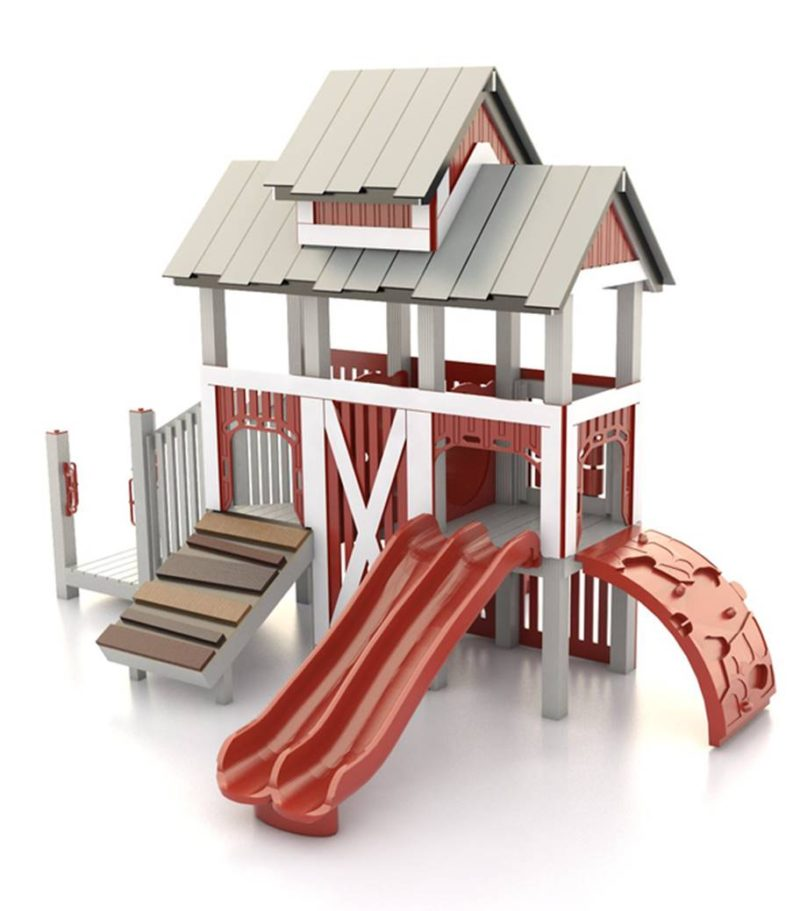 Barnyard Themed Playground Set Idea