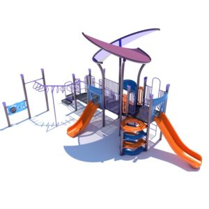 commercial playground with shade