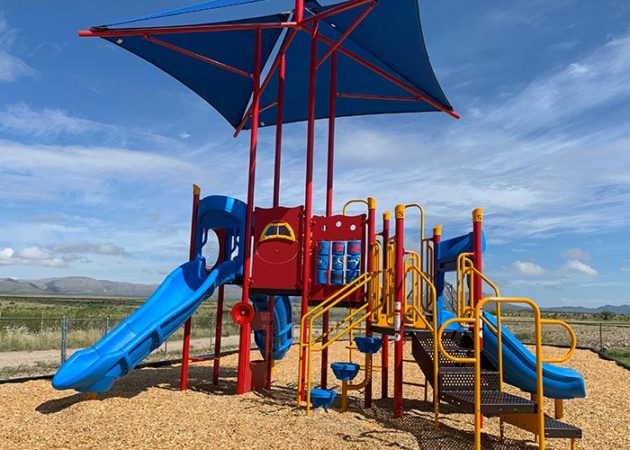 texas playground with shade