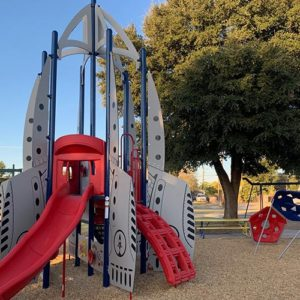 rocket themed playground