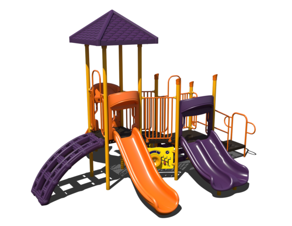 steel commercial playground with roof