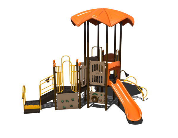 steel playground with roof