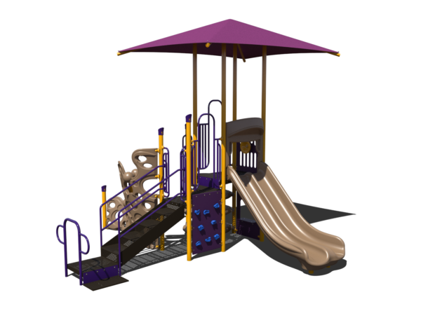 steel playground with shade
