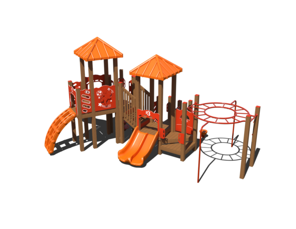 commercial recycled playground with slides