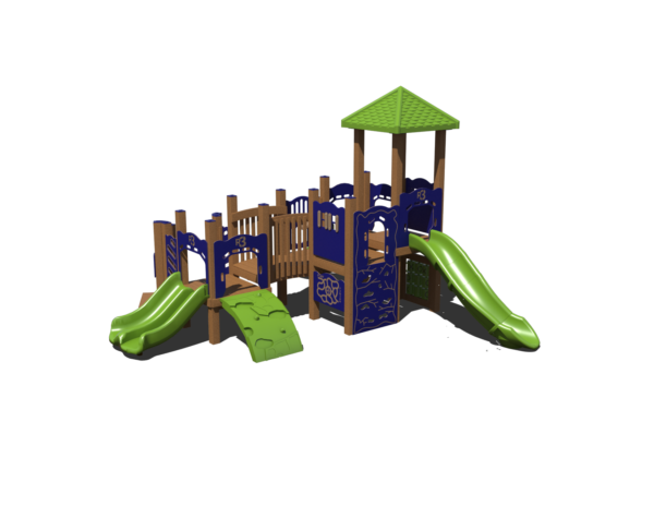 commercial playground with roof