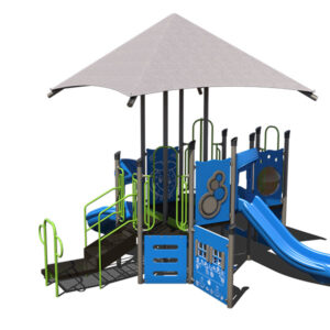 commercial playground equipment with shade