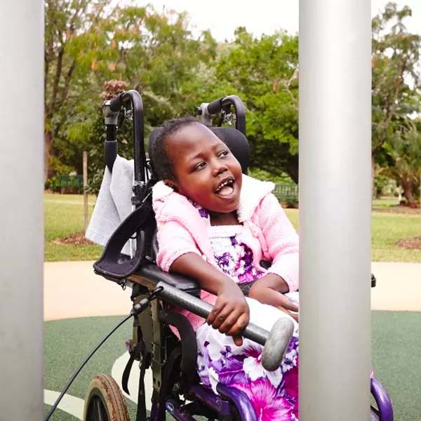 Learn more about Inclusive wheelchair playground swing